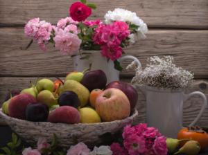 healthy food, plants, flowers