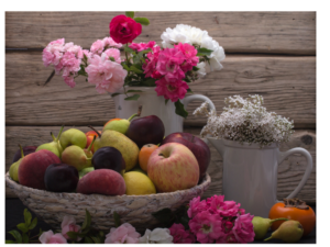 food and flowers